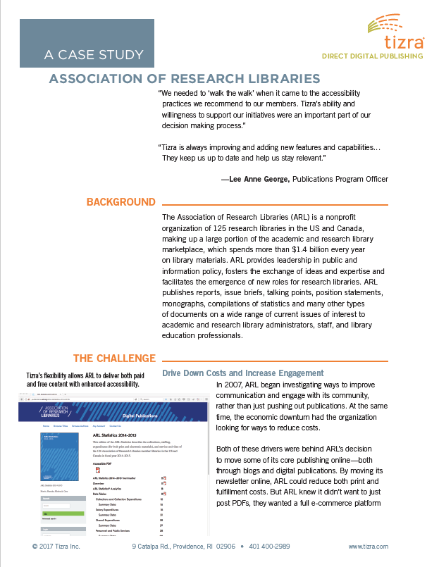 Case Study: Association of Research Libraries
